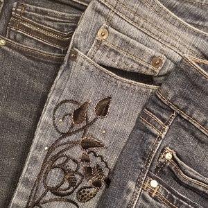 3 pairs White House Black Market jeans, size 12